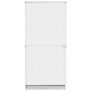 Nematek Insektenschutz-Tür Nematek® Insektenschutz Alu Spannrahmen System Tür, 120 x 240 cm in verschiedenen Farben verfügbar - ohne Bohren montierbar weiß 100 cm