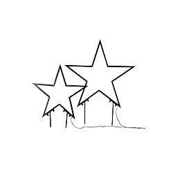 LED-Gartenstecker-Set Sterne 2-tlg.