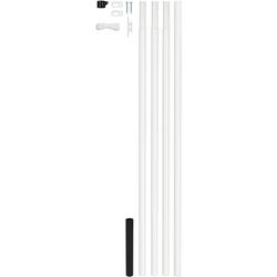 GAH Fahnenmast weiß 6,15 m x Ø 42mm