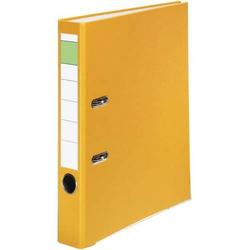 Ordner A4 PP grüner Balken 50mm gelb