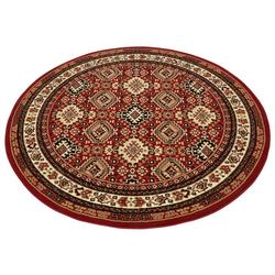 Teppich Diantha, my home, rund, Höhe 9 mm, Orient - Dekor rot
