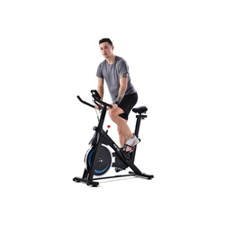 Merax Speedbike Apollo, heimtrainer Indoor Cycling Bike mit 8KG Schwungrad blau