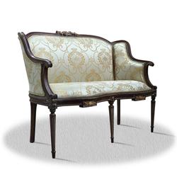 Casa Padrino Barock 2er Sitzbank mit Muster 120 x 45 x H. 90 cm