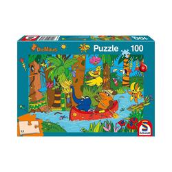 Schmidt Spiele Puzzle Puzzle - Die Maus, Im Dschungel - 100 Teile, Puzzleteile
