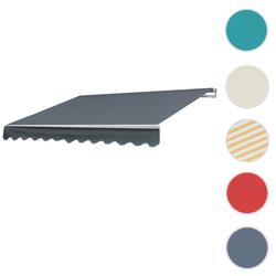 Alu-Markise T792, Gelenkarmmarkise Sonnenschutz 5x3m ~ Acryl Grau