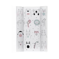 Rotho Babydesign Wickelauflage Keil-Wickelauflage, Happy Faces weiß