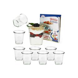 MamboCat Vorratsglas 9er Set Weck Quentin 545 ml mit Rezeptheft