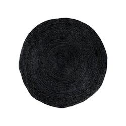Teppich Broom Teppich Ø90 cm in Jute dunkelgrau., ebuy24, Höhe 1 mm