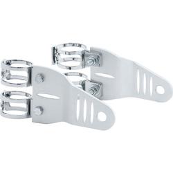 P&W Lampenhalter Alu silber für 39-42 mm Gabel
