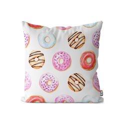 Kissenbezug, VOID (1 Stück), Sweet Donuts Kissenbezug Doughnut Cupcake Einhorn Süßigkeiten Donuts Süßwaren 80 cm x 80 cm