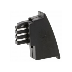 Helos Telefonadapter TAE-F M lose Belegung Kontakte TAE-RJ12 RJ11: 1-5 2-2 3-4 4-3 (014037)