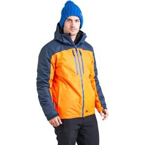 Trespass Crashed, Sunrise, L, Gepolsterte Warme Wasserdichte Skijacke mit abnehmbarer Kapuze, Schneefang & Skipasstasche für Herren, Large, Orange