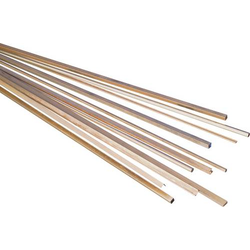 Messing Rohr Profil (Ø x L) 1.5mm x 500mm Innen-Durchmesser: 1.1mm
