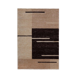 Teppich Florenz - Lines Up - - Braun