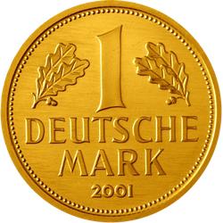 12 Gramm Gold 1 Deutsche Mark 2001 - Goldmark