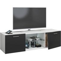 VCM Jusa TV-Lowboard 1150 mm schwarz/weiß