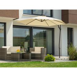 Schneider Schirme Ampelschirm Genua, mit Schirmständer, ohne Wegeplatten natur