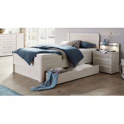 Bett 90x200 cm Bettrahmenhöhe 53  cm -  mit Bettschubkasten - Apolda