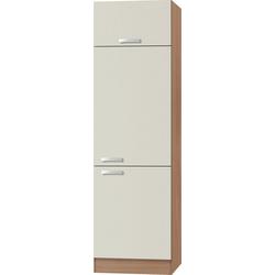 OPTIFIT Kühlumbauschrank Odense 60 cm breit, 207 cm hoch, geeignet für Einbaukühlschrank mit Nischenmaß 88 cm natur