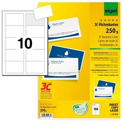 100 SIGEL Visitenkarten LP853 weiß