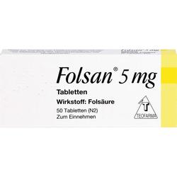 FOLSAN 5 mg Tabletten 50 St.