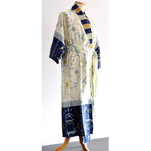 Bassetti OPLONTIS Kimono, Baumwolle, Blau, 140 x 55 x 1 cm