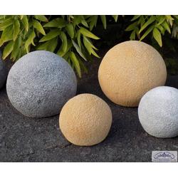 Betonkugeln mit Steinoptik als Gartendeko Steinkugel zur Gartendekoration 19cm 28cm (Farbe: hellgrau)