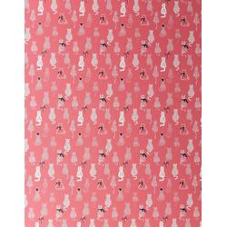 STAR Geschenkpapier, Geschenkpapier Katzen mit Schleifen 70cm x 2m, Rolle