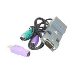 GRAFENTHAL - Tastatur- / Video- / Maus- (KVM-) Adapter - PS/2, HD-15 (VGA) (M) bis RJ-45 (W)