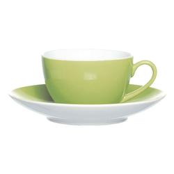 4-teiliges Kaffeetassen-Set »Doppio«, inkl. Untertassen grün, Ritzenhoff & Breker, 10x6x10 cm