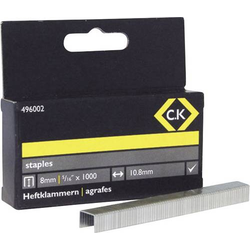 C.K. Tackerklammern 1000 St. 496002 Klammern-Typ 140 Abmessungen (L x B) 8mm x 10.5mm