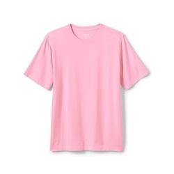 Stückgefärbtes Super-T Kurzarm-Shirt, Classic Fit, Herren, Größe: L Normal, Pink, Jersey, by Lands' End, Salzwasser Pink - L - Salzwasser Pink