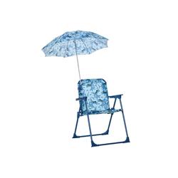 Outsunny Stuhl Kinder-Campingstuhl mit Sonnenschirm blau
