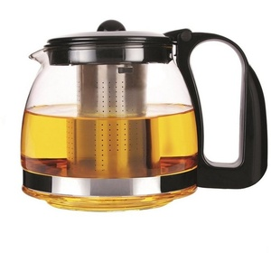 Michelino Teekanne Teekanne Glas, 0.7 l, Teekanne weiß 0.7 l - 15 cm x 10.5 cm
