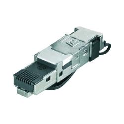 Stecker RJ45 werkzeuglos IE-PS-RJ45-FH-BK