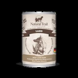 5x800g  + 800g GRATIS Natural Trail LAND Super Premium Nassfutter für Hunde Hundefutter