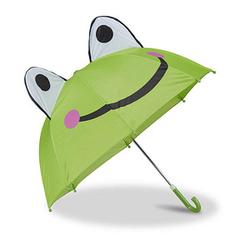relaxdays Kinder-Regenschirm Frosch grün