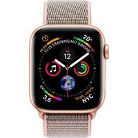 Apple Watch Series 4 (GPS) 40mm Aluminiumgehäuse gold mit Loop Sportarmband sandrosa