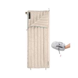 Naturehike Daunenschlafsack Schlafsack Ultraleicht 800FP Gänsedaunen, mit Tragetasche, 0,57 kg, khaki natur