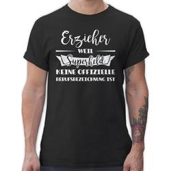 Shirtracer T-Shirt Erzieher weil Superheld keine offizielle Berufsbezeichnung ist - Sonstige Berufe - Herren Premium T-Shirt L