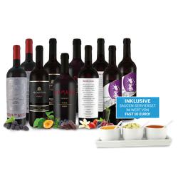 Lagerräumungspaket XXL Italienische Rotwein inkl. Saucen-Servierset