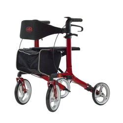 """Rollator """"Antar Aluminium Premium"""", mit Vollausstattung, Outdoor, für den Außenbereich,  Rot"""