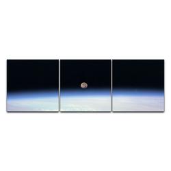 Bilderdepot24 Leinwandbild, Leinwandbild - Weltraum 180 cm x 60 cm