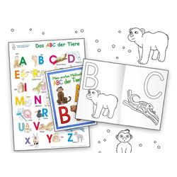 Das ABC der Tiere Lernposter DIN A3 laminiert + Malbuch DIN A4 2 Teile als Buch von E&Z-Verlag GmbH