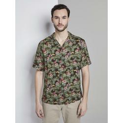 TOM TAILOR Hawaiihemd Kurzarm-Hawaiihemd mit tropischem Print L