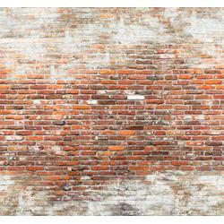 Art for the home Fototapete Brick wall 2, 300 cm Länge rot Fototapeten Tapeten Bauen Renovieren