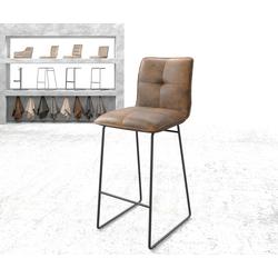 DELIFE Barstoel Maddy-Flex vintage bruin slipframe metaal, Stoelen