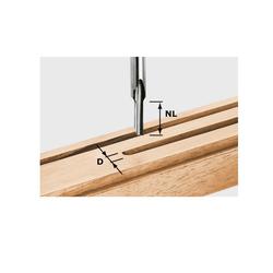 Festool Nutfräser HS S8 D4/15 490942 Fräser Weichholz-Anwendung