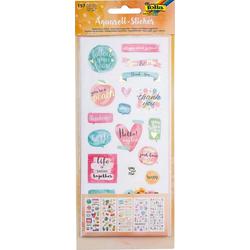 Folia Sticker Aquarell-Sticker, 157 Sticker