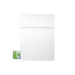MOCAVI Briefkasten MOCAVI Box 500 Design-Briefkasten weiss mit Zeitungsfach (RAL 9003)